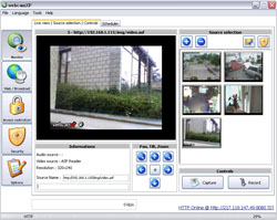 webcamXP User Interface